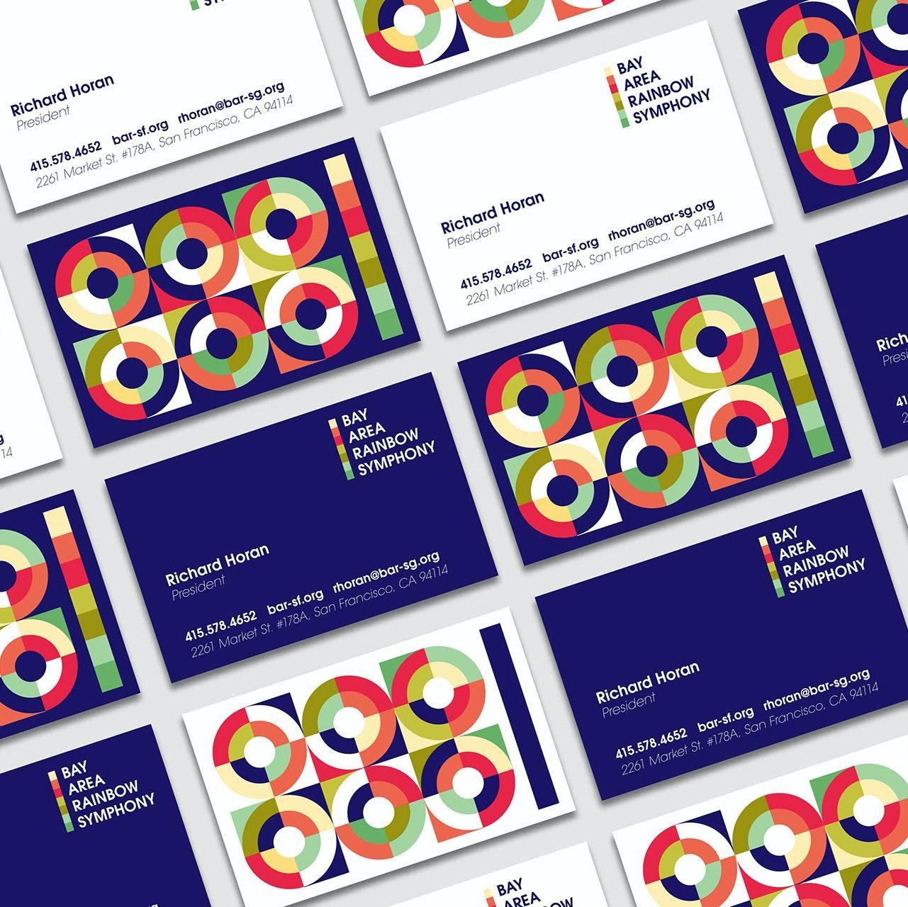 Brand identity design for the Bay Area Rainbow Symphony