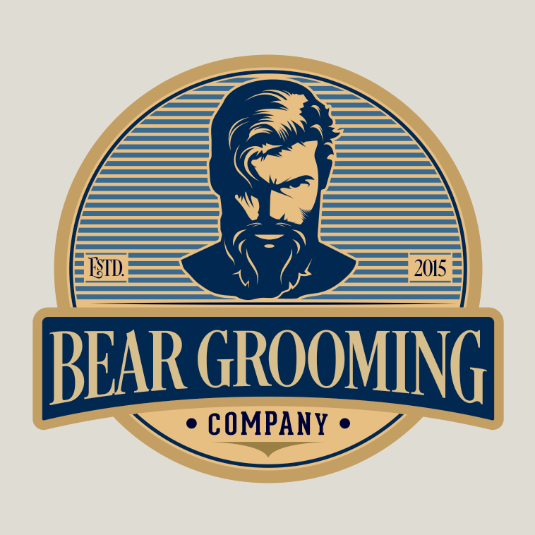 Logo design for bear groom