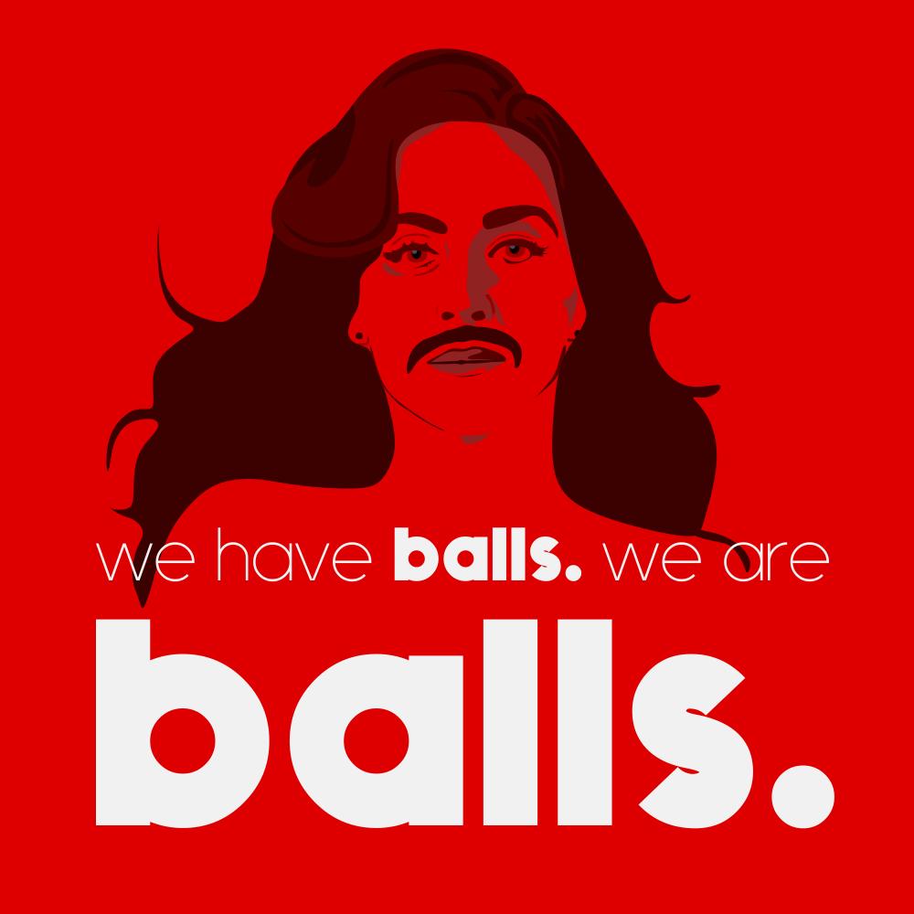 Logo design for LGBT advertising company Balls