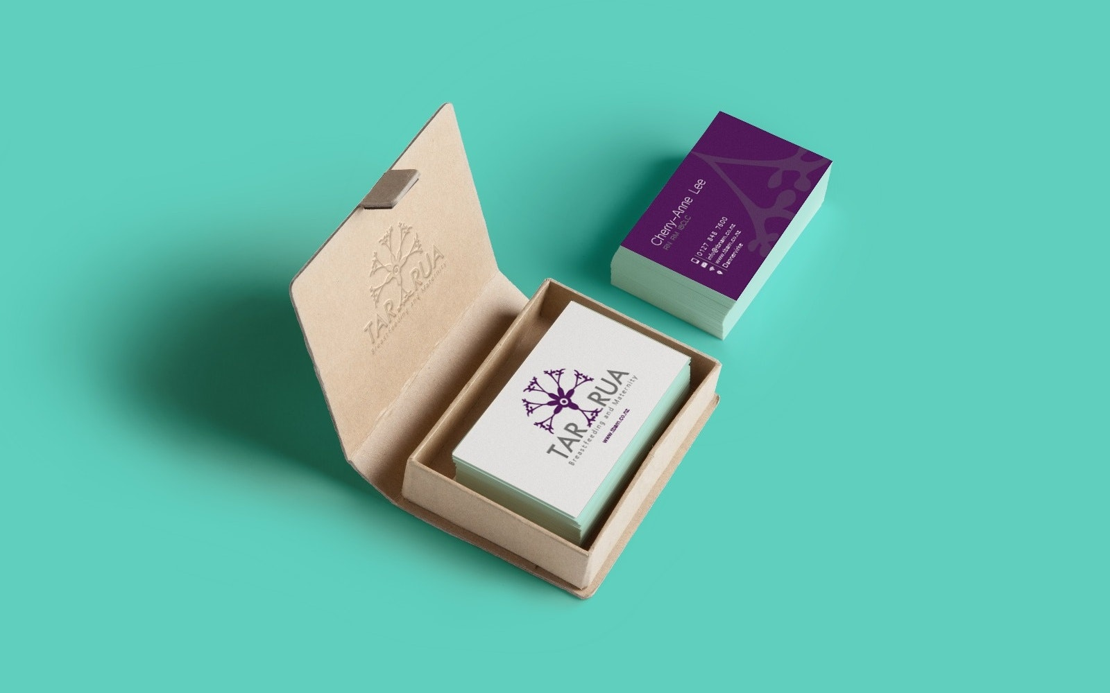 Business card with custom color