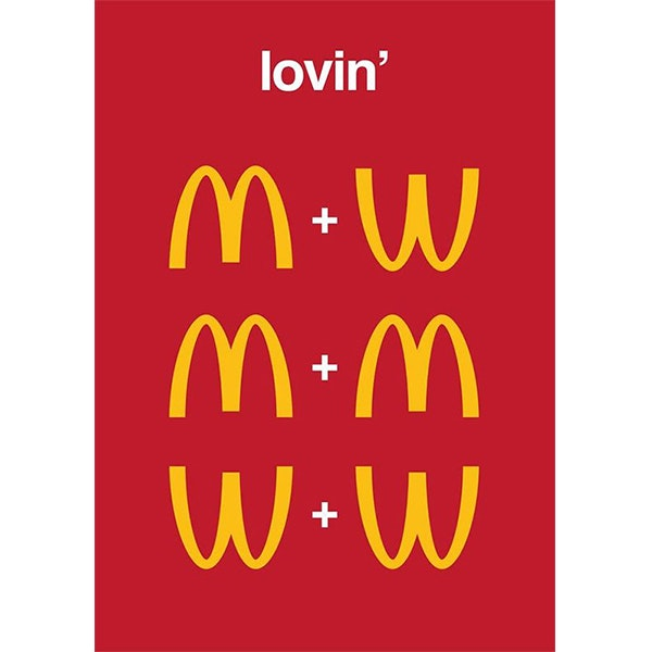 An LGBT themed reimagining of the McDonald's logo