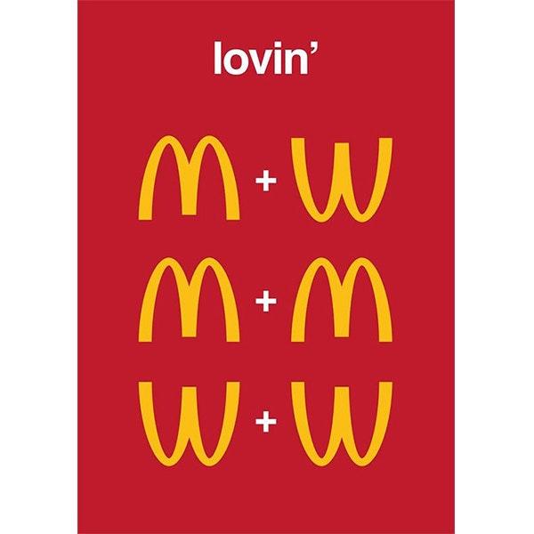 An LGBT themed reimagining of the McDonald's logo