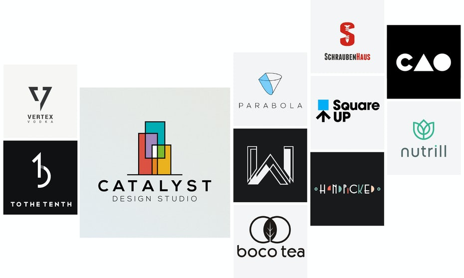 27 modern logos that revolutionize the past 99designs for Home decor logo 99design