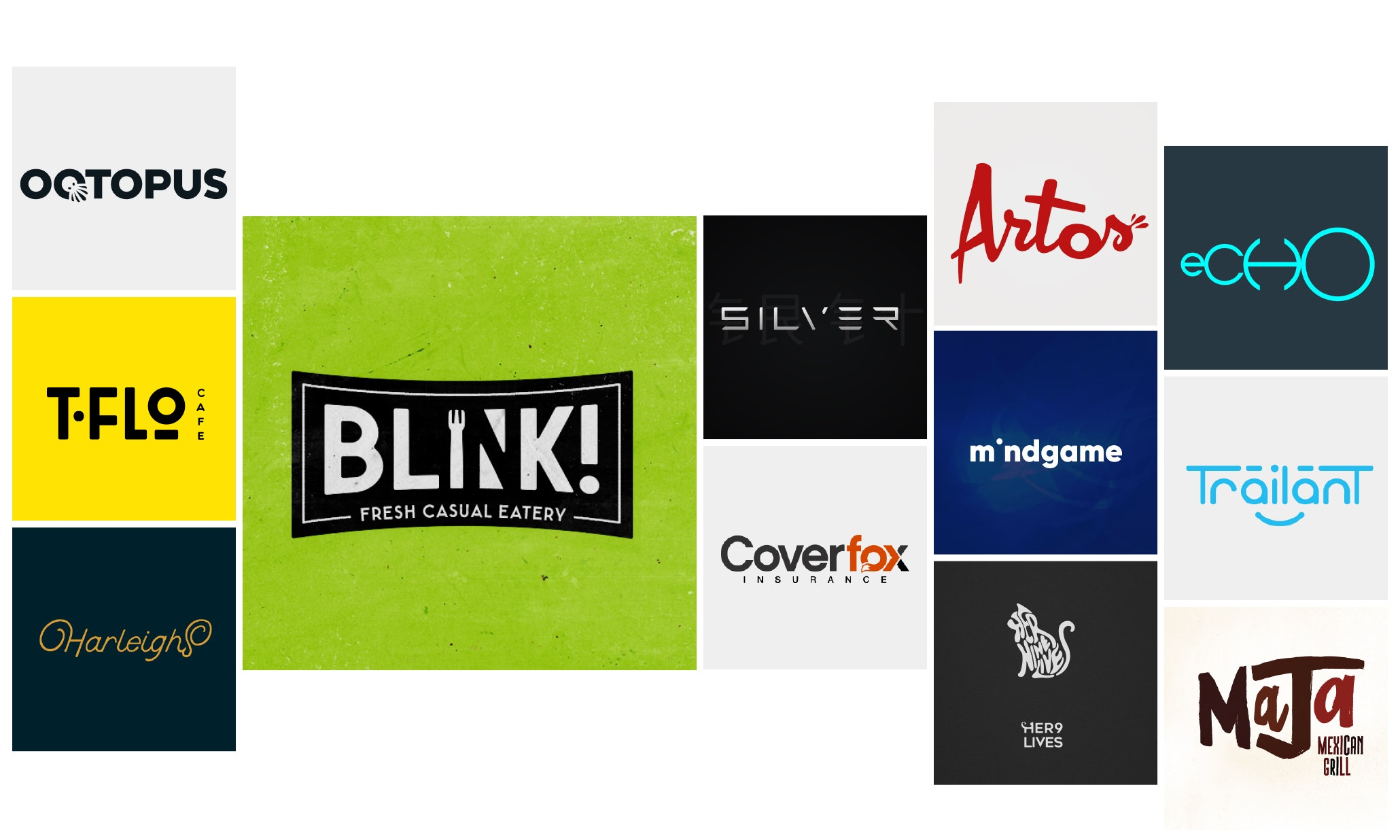 25 text logos that have the last word(mark)