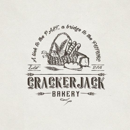 Bread-centric logo: Crackerjack Bakery