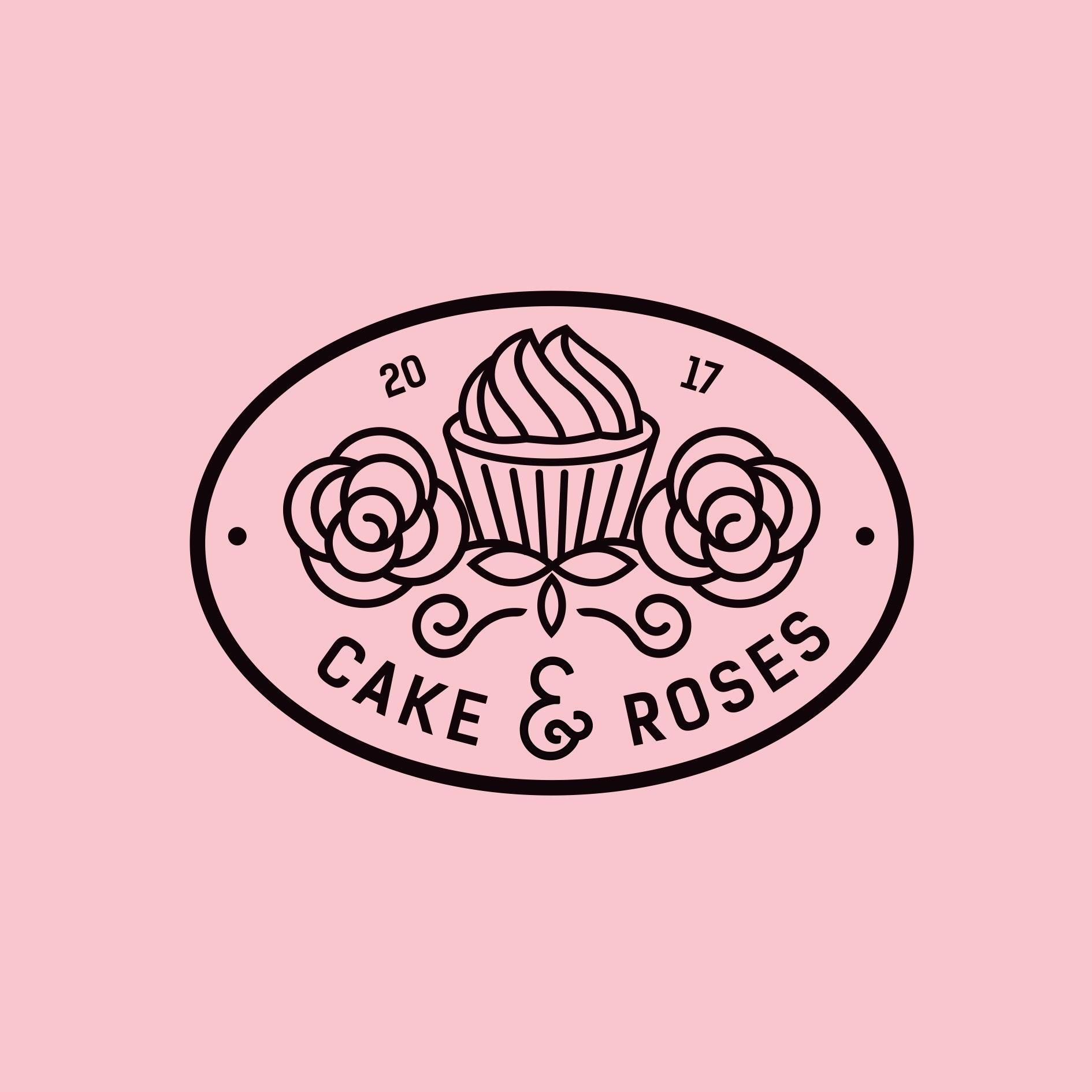 Sweetooth Logo: Cake & Roses