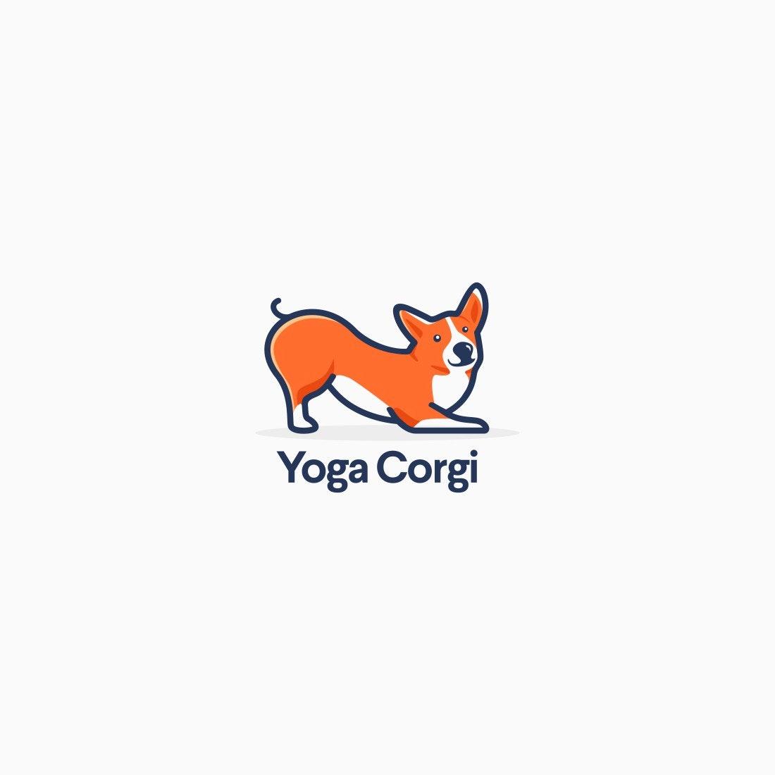 Yoga Corgi logo