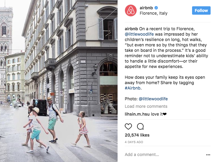 Airbnb user-generated content