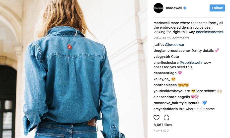 Madewell Instagram image