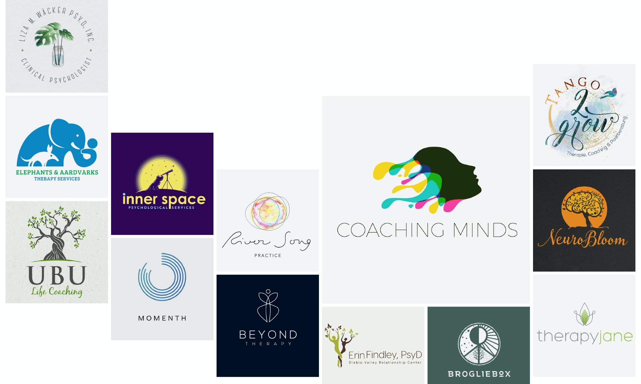 37 psychologist, therapist and counselor logos to guide you in the right direction