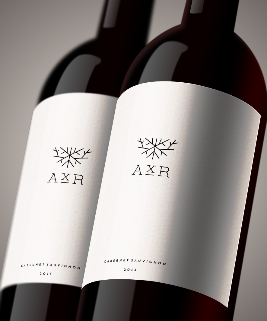 Modern, minimalist wine label