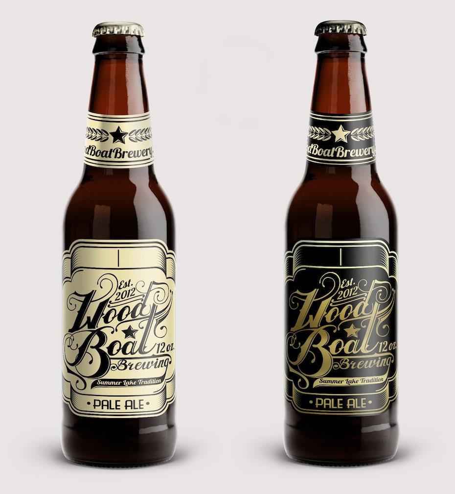 Wood Boat Beer Label Designs By Bence Balaton