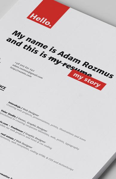 resume of a graphic designer