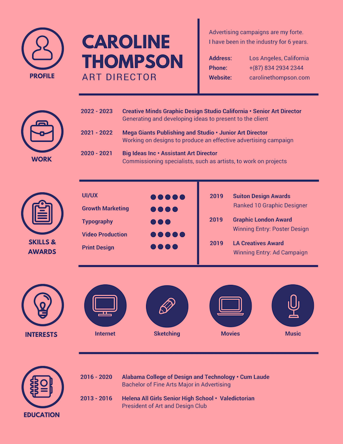 art director resume - Graphic Designer Resume
