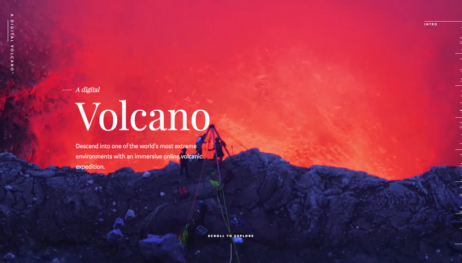 Digital Volcano website screenshot