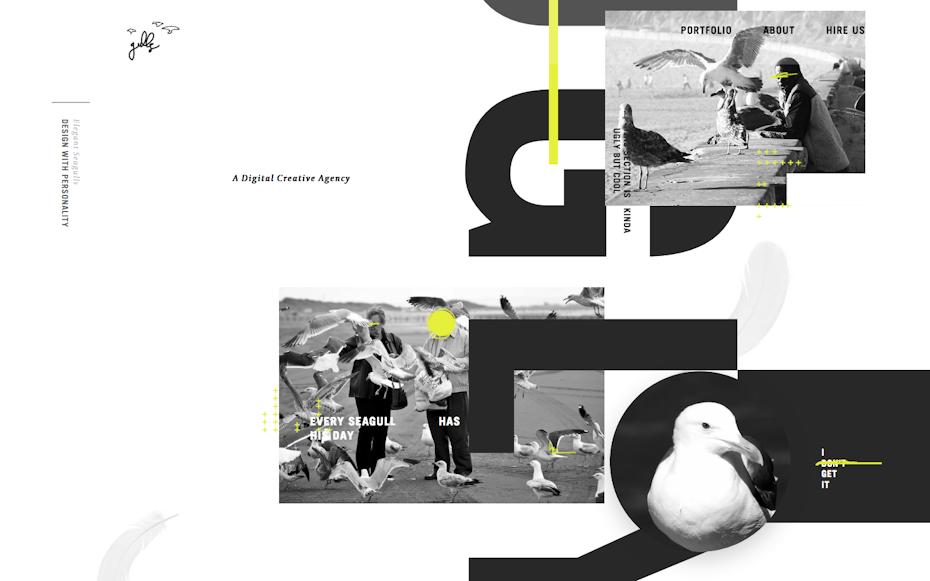 Elegant seagulls website screenshot