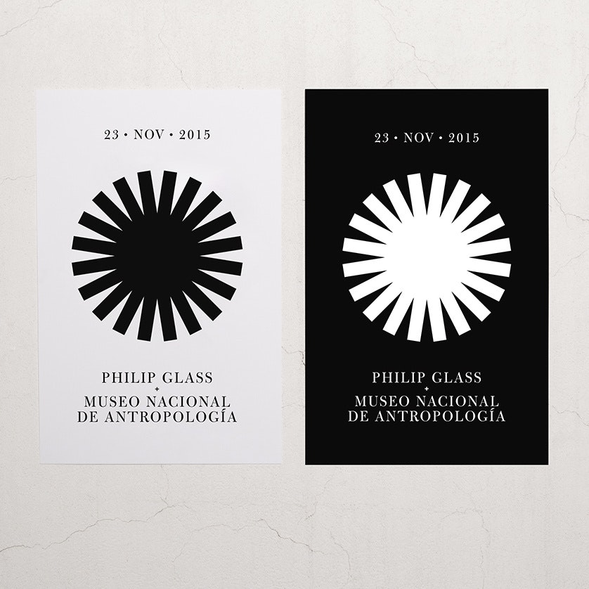 Philip glass concert logo