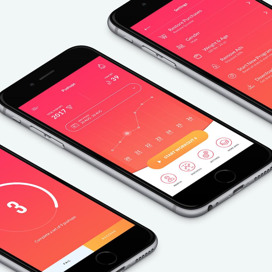 Pushups fitness app