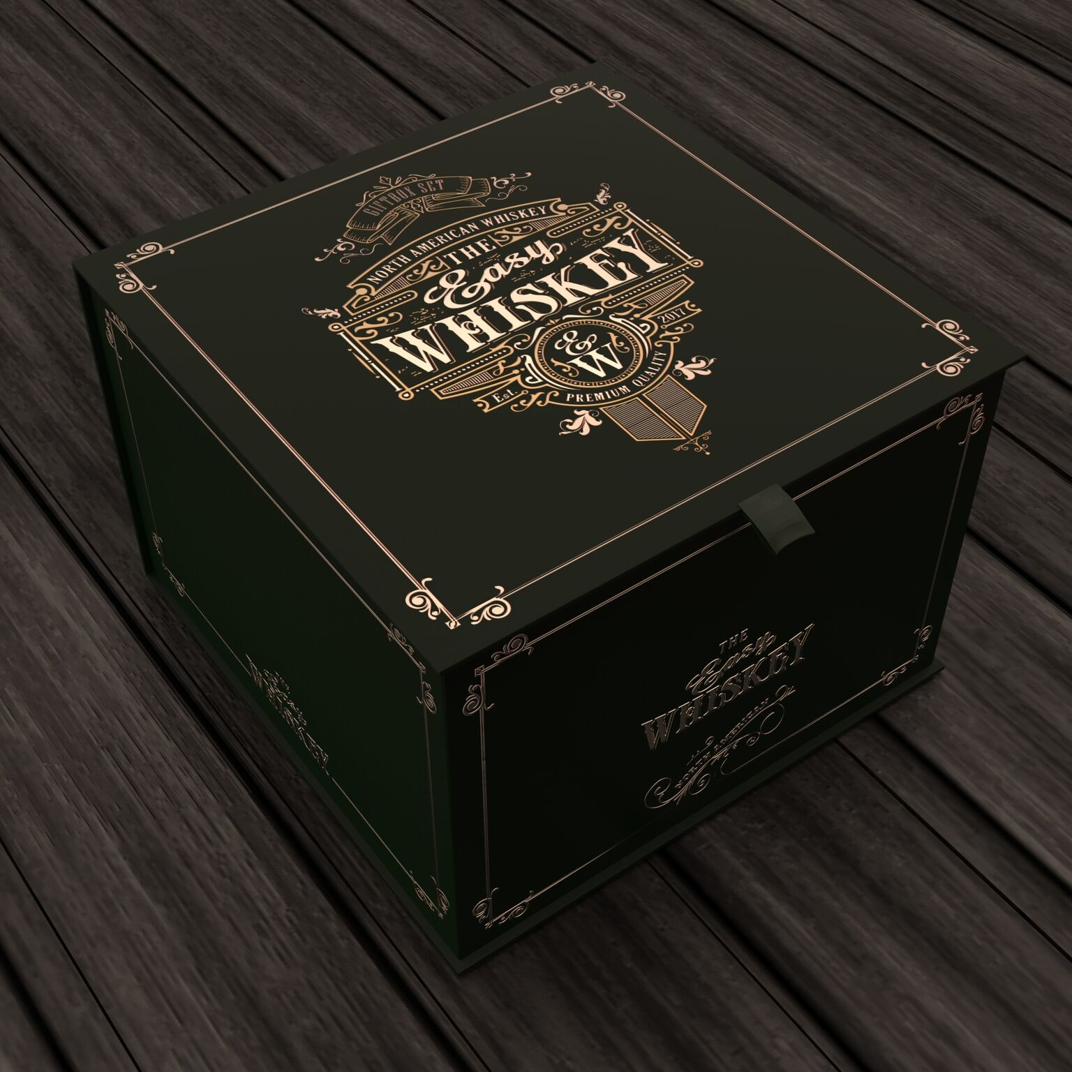 Whiskey box design