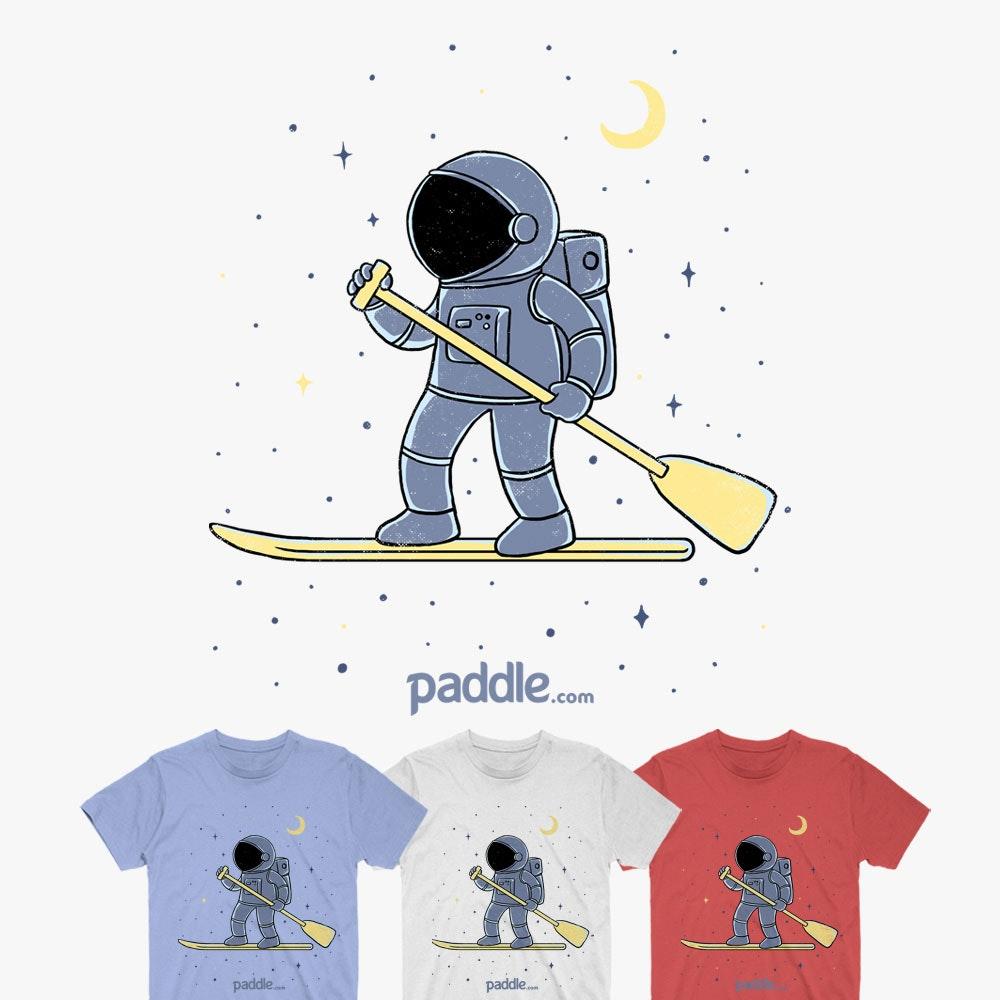 Paddling astronaut t shirt