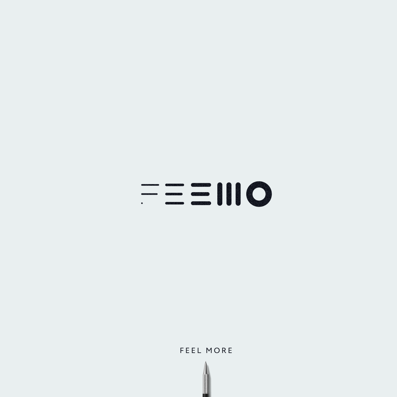 Logo with minimal geometric shapes