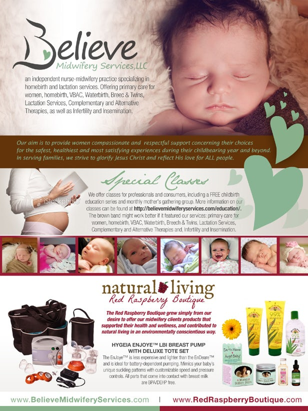 flyer for a midwifery company