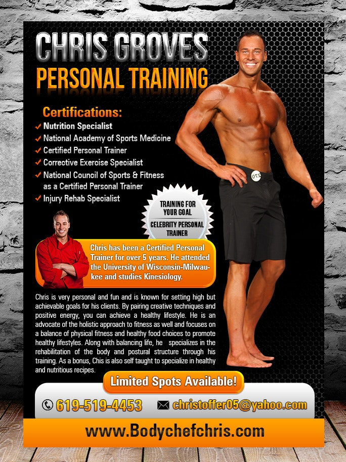 Flyer for personal trainer