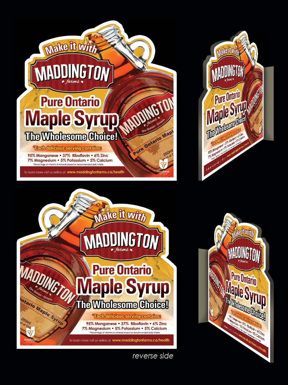 Flyer for maple syrup brand