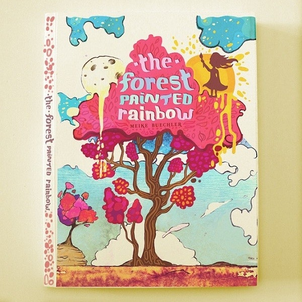 A gorgeous painted book cover