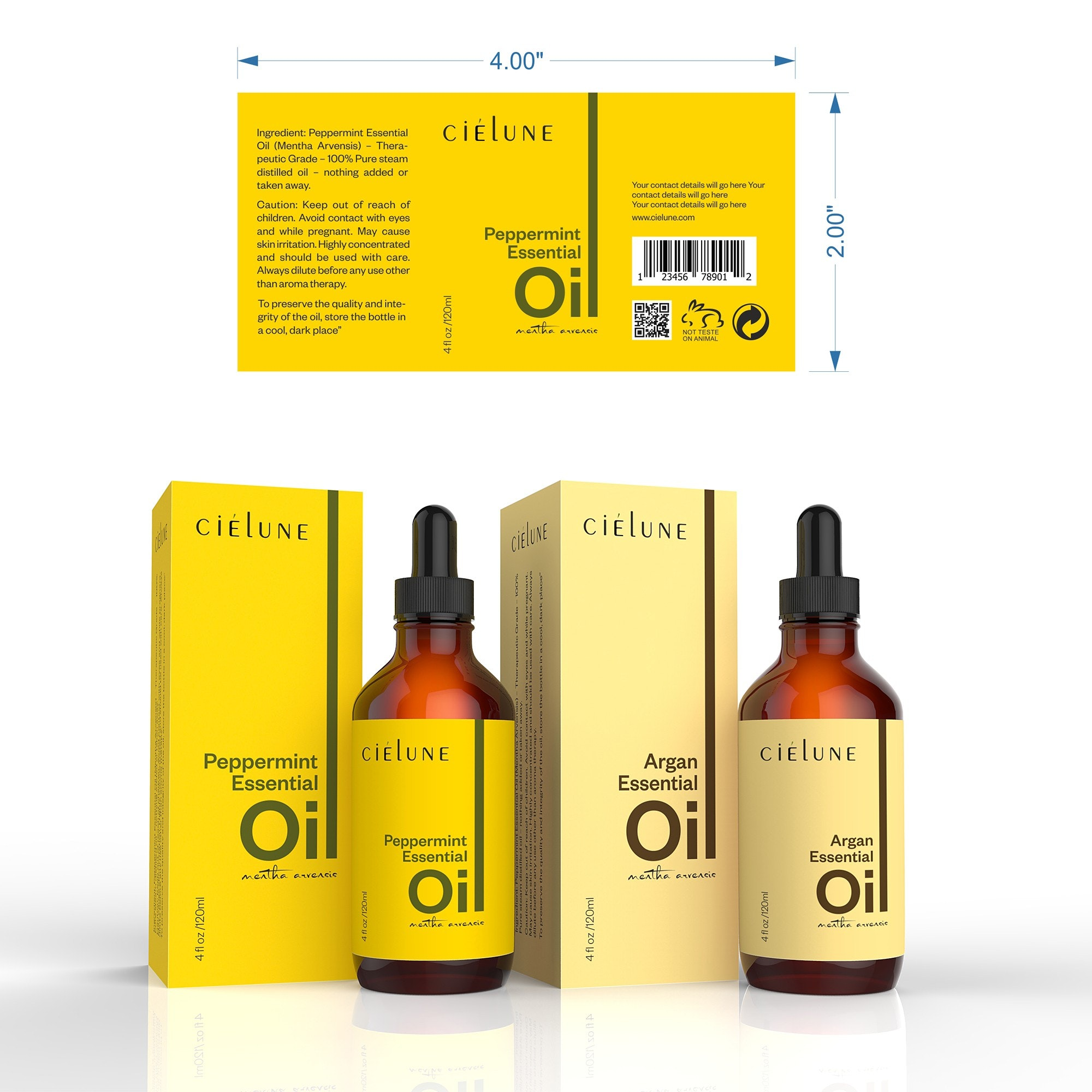 Cielune Argan Oil label