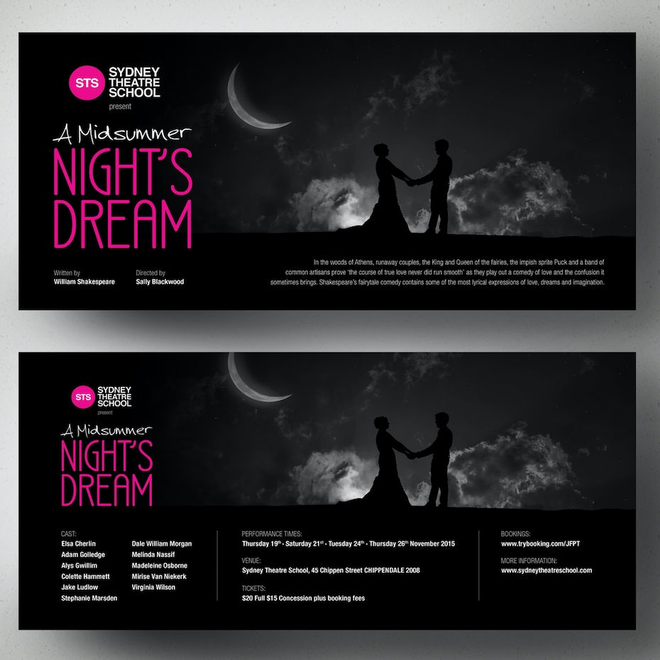 99 flyer design ideas that will give you wings 99designs black flyer for theatre company biocorpaavc Images