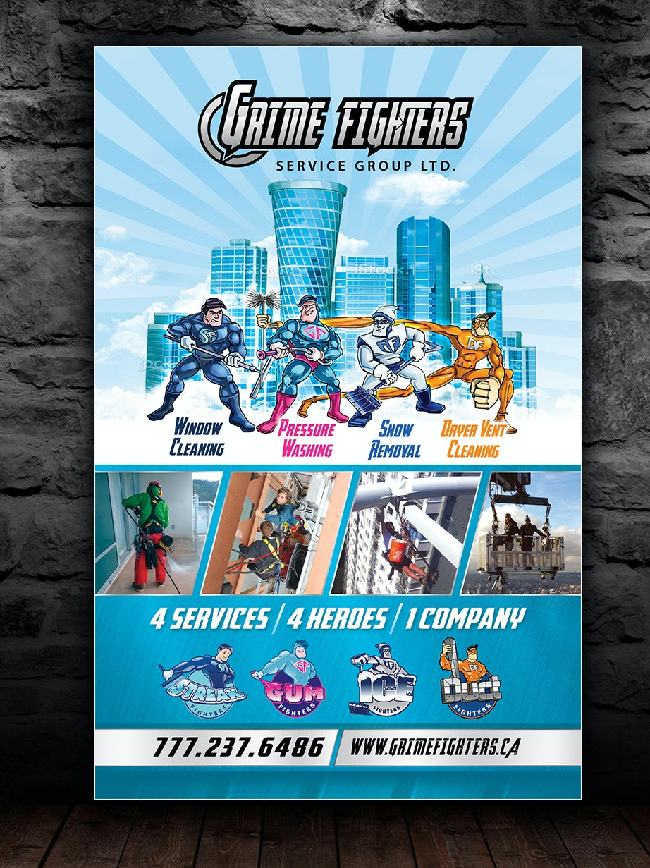 Flyer for cleaning company