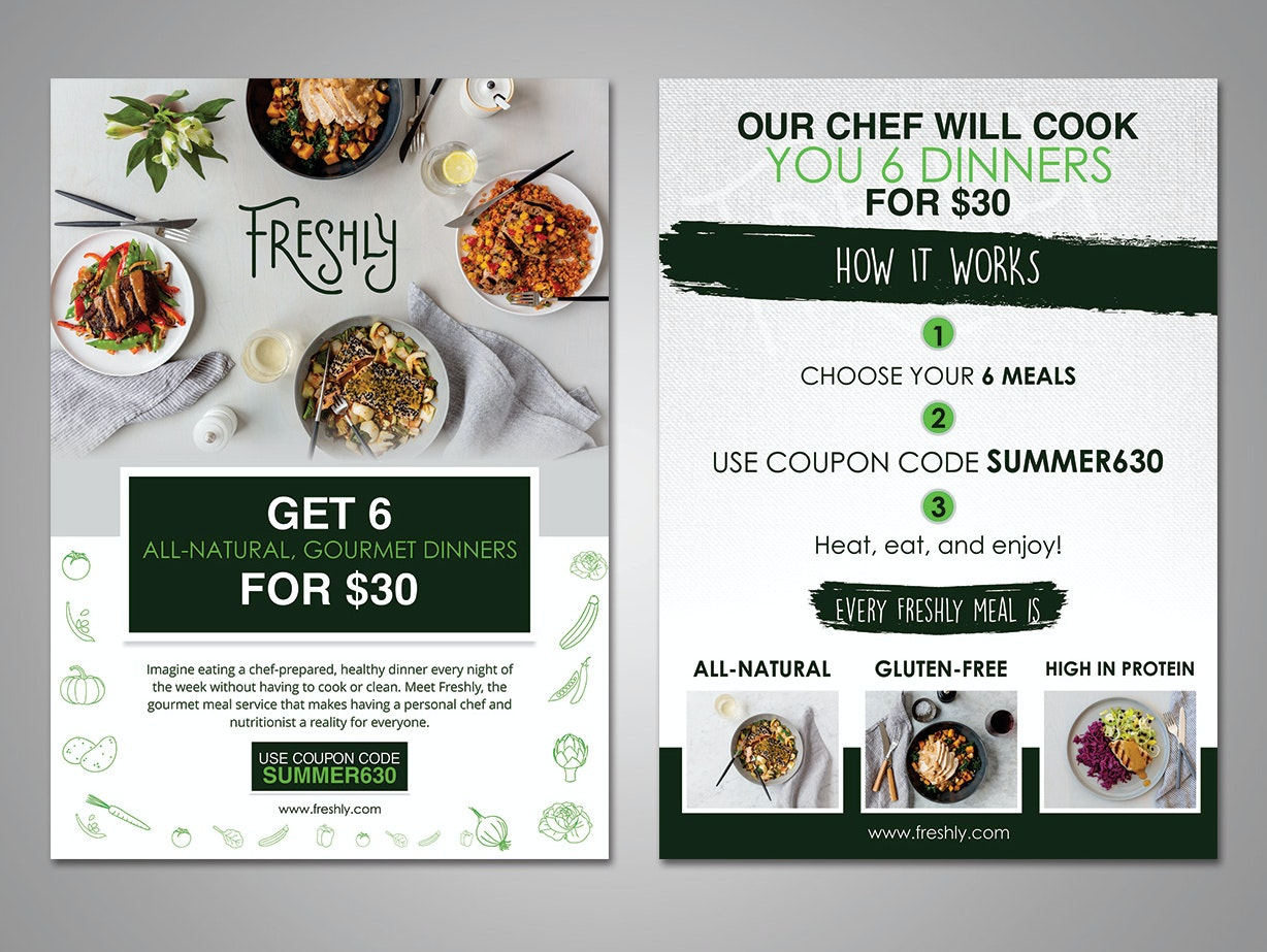 Flyer for food delivery service