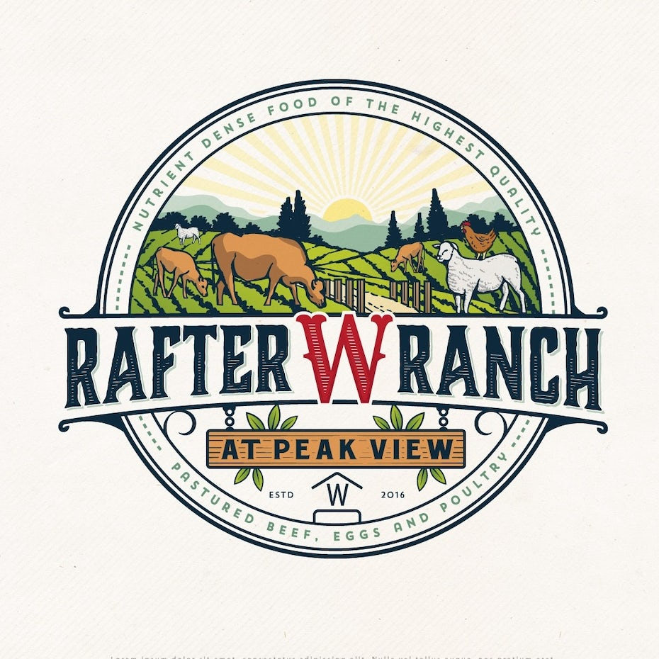 32 farm logos we really dig 99designs