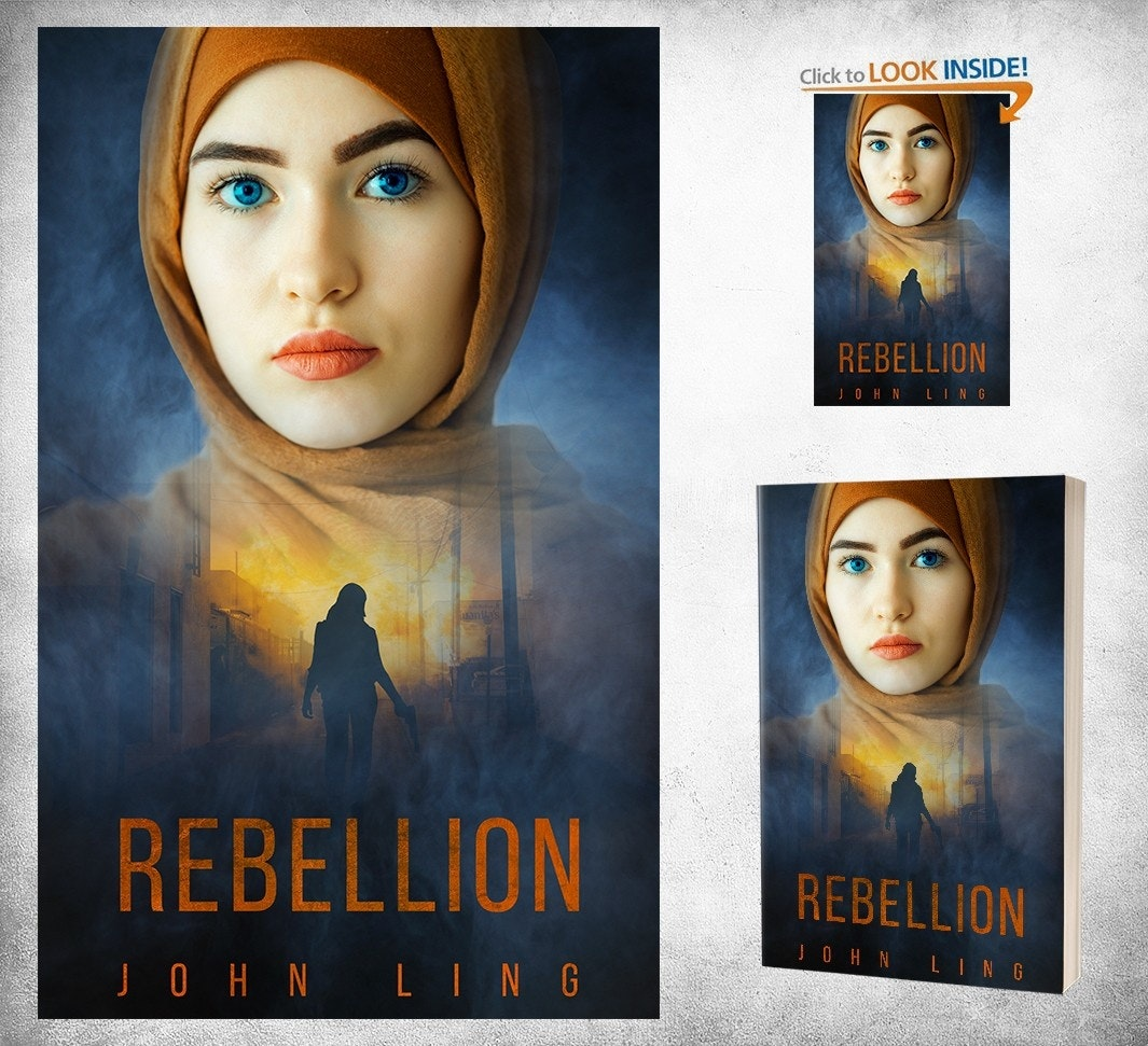 A striking face on a book cover design