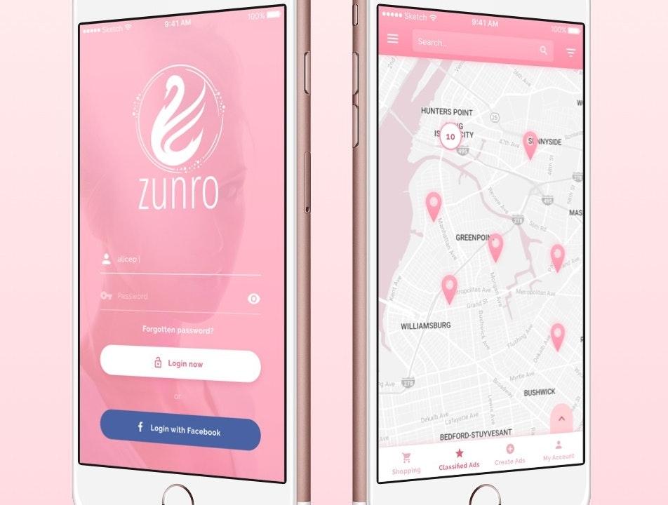 Pink app design