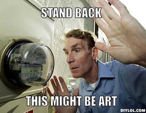 Bill Nye art meme