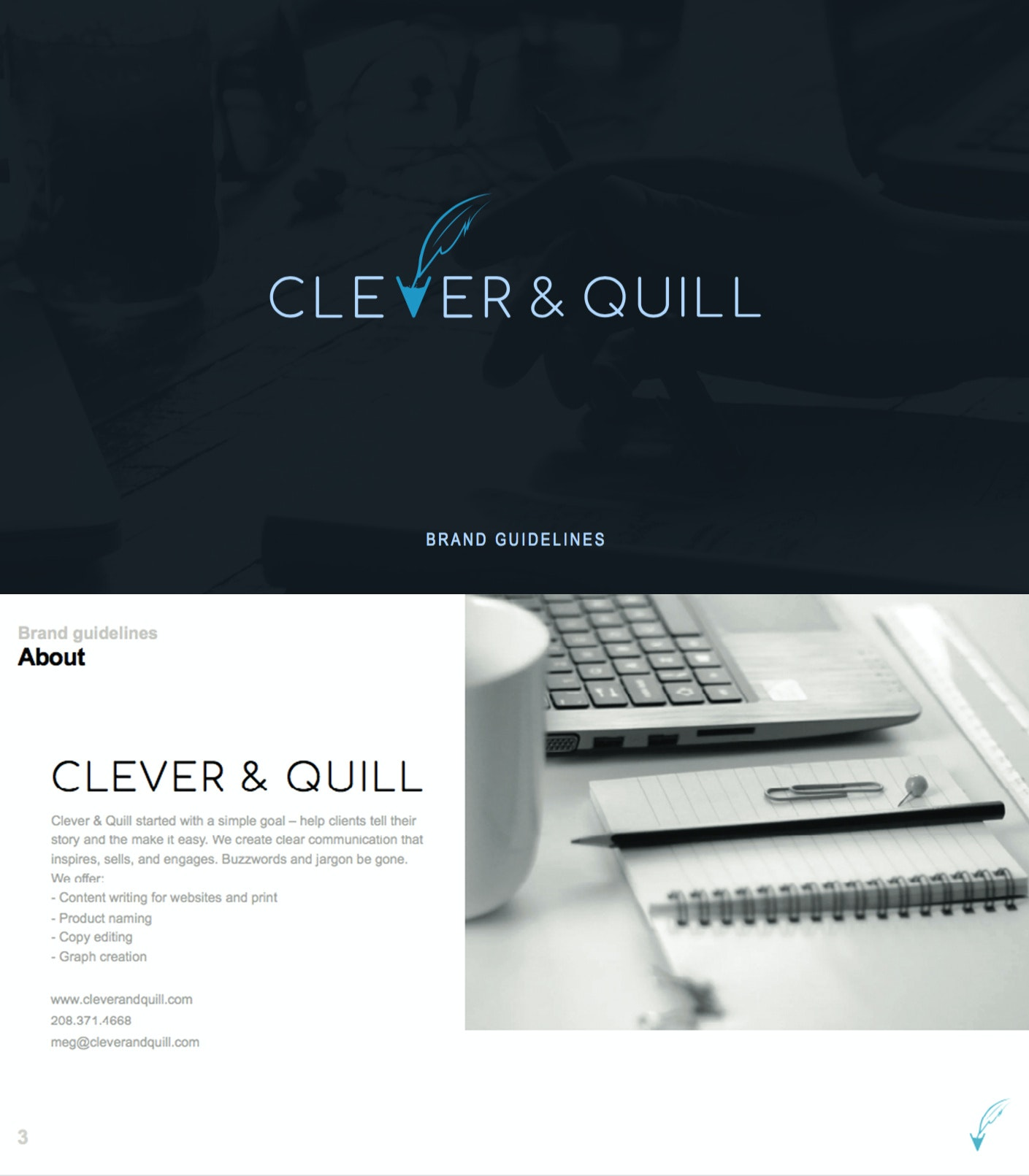 Clever and Quill brand style guide