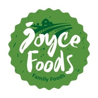 Handlettered logo for Joyce Foods