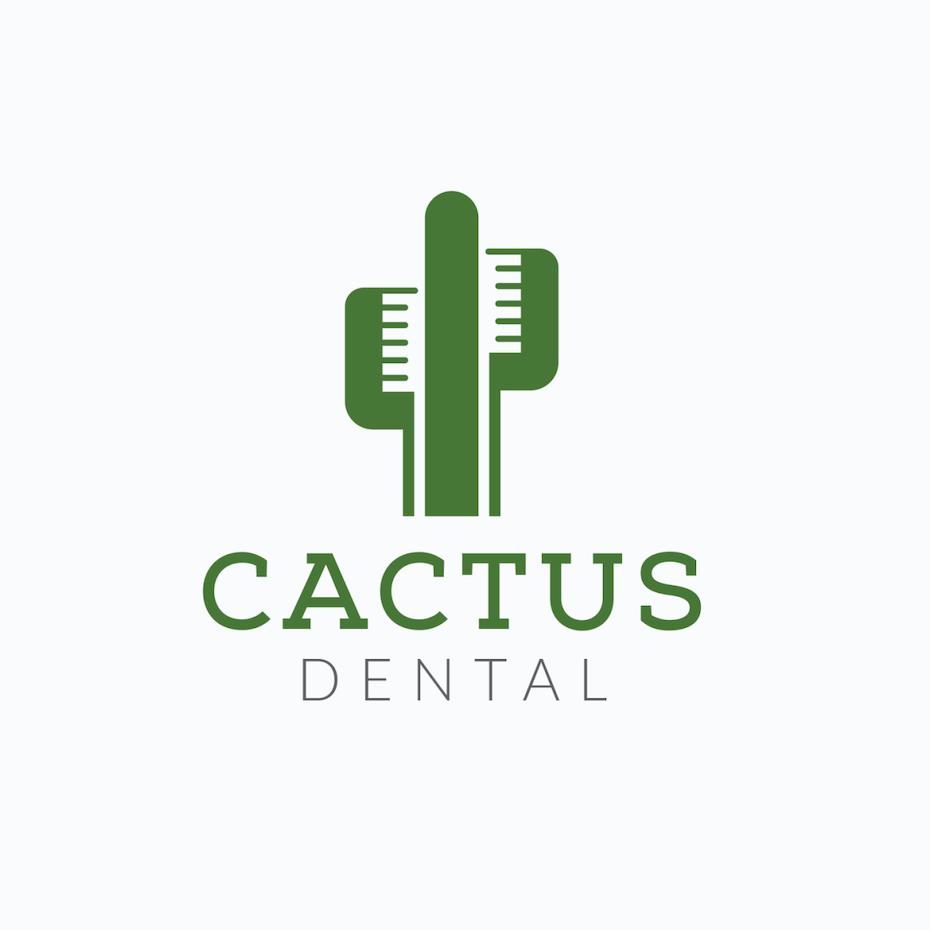 Diseño de logotipo original para Cactus Dental