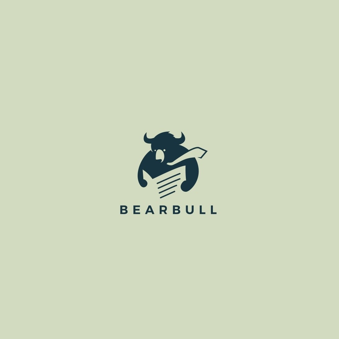 Logo with bear illustration