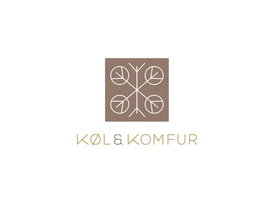 Brown and beige Scandinavian style logo