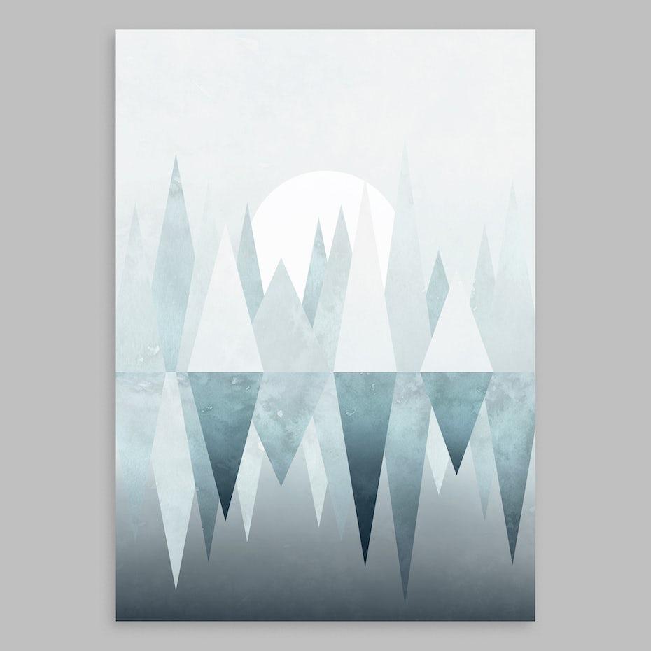 Winter mountain art