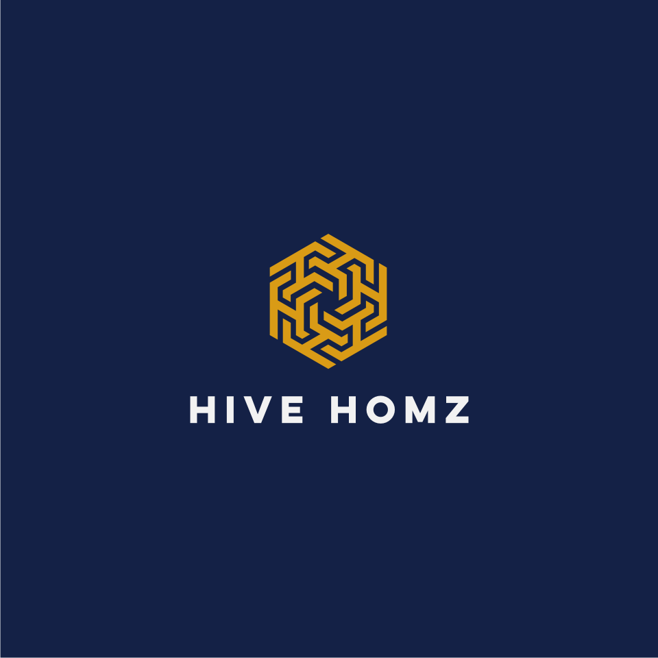 Logo with complementary colors for Hive homz