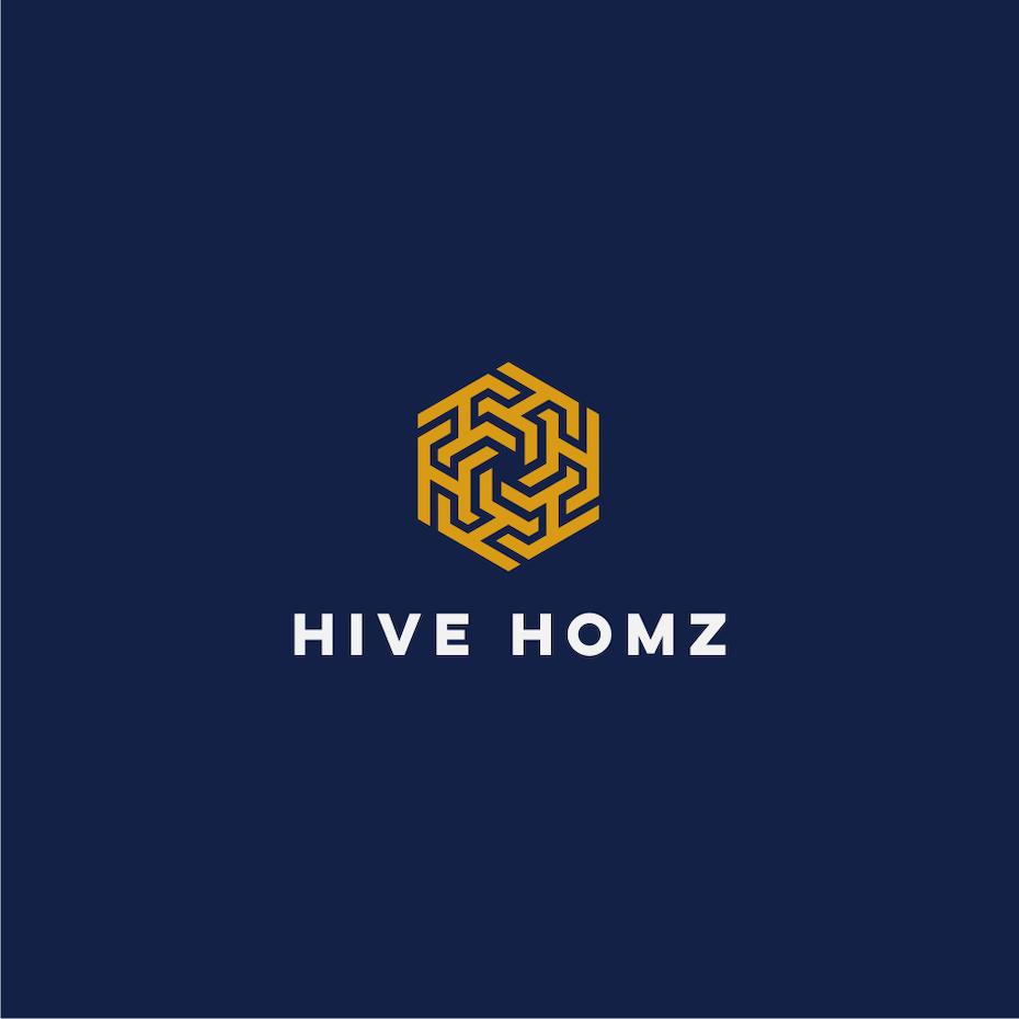 Logotipo con colores complementarios para Hive homz