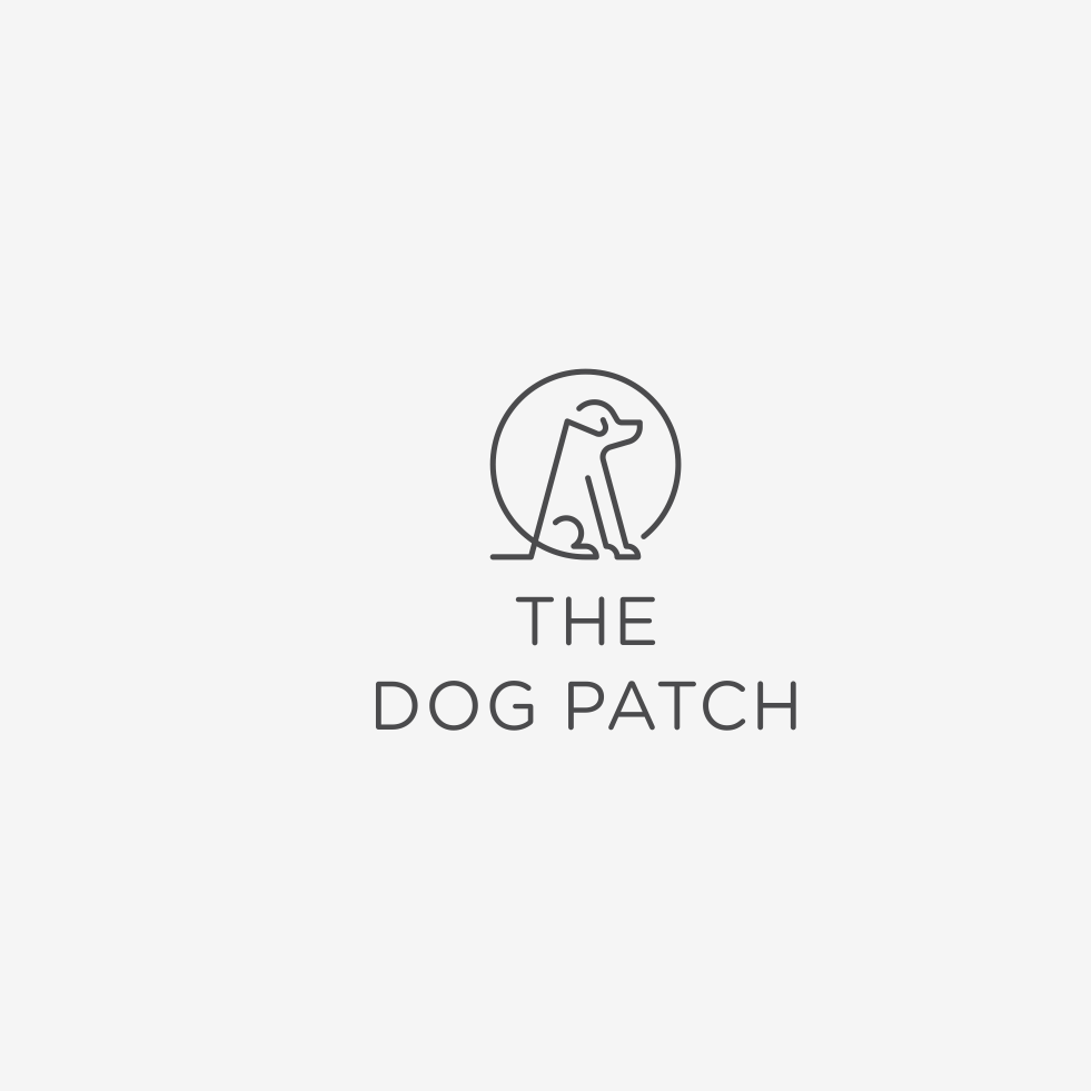 Logo with dog line drawing