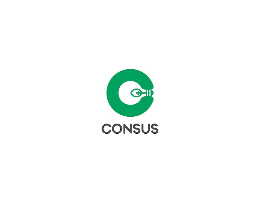 C shaped logo