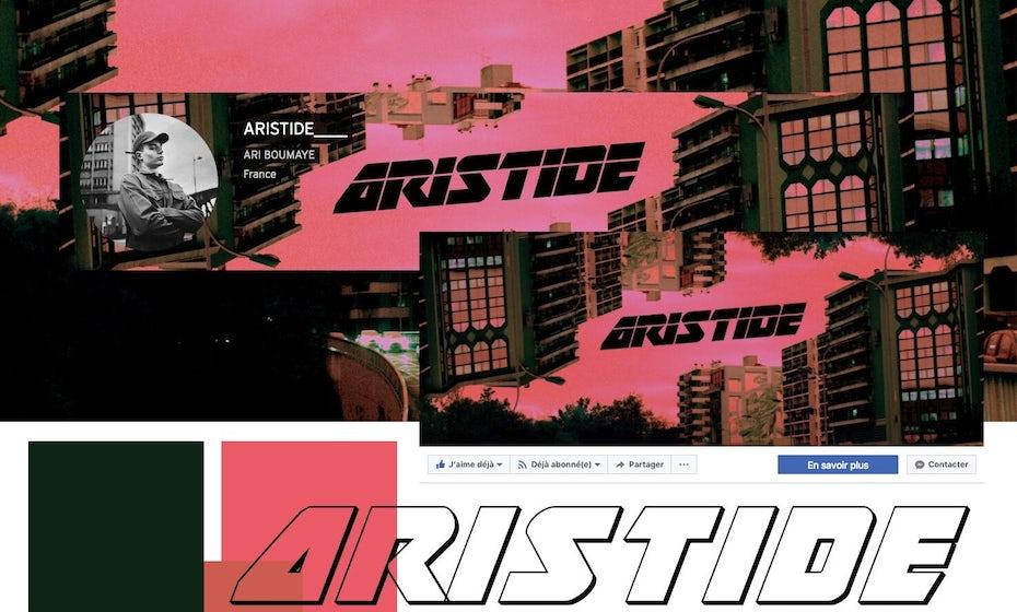 Identitas visual Brutalist untuk Artside