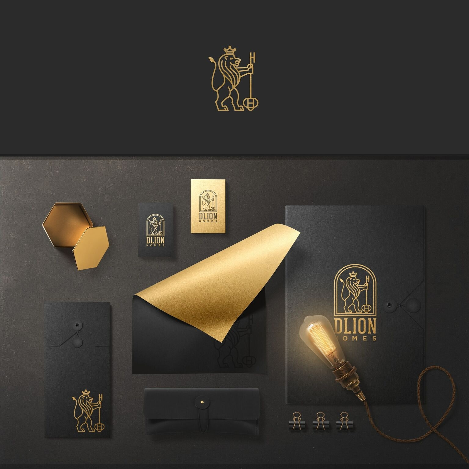 Powerful and luxurious logo design for DLeonHomes