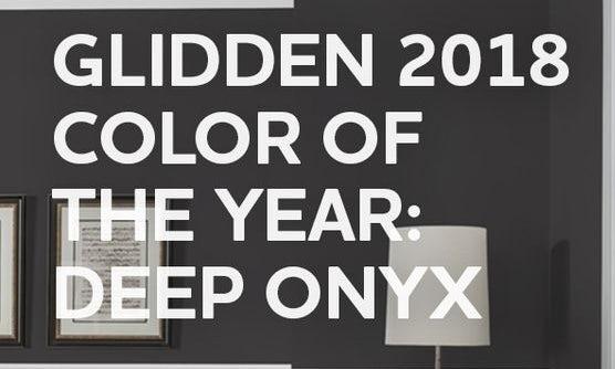 2018 Couleur de l'année, Deep Onyx via Glidden